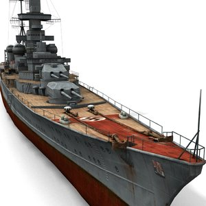 3d model german cruiser prinz eugen