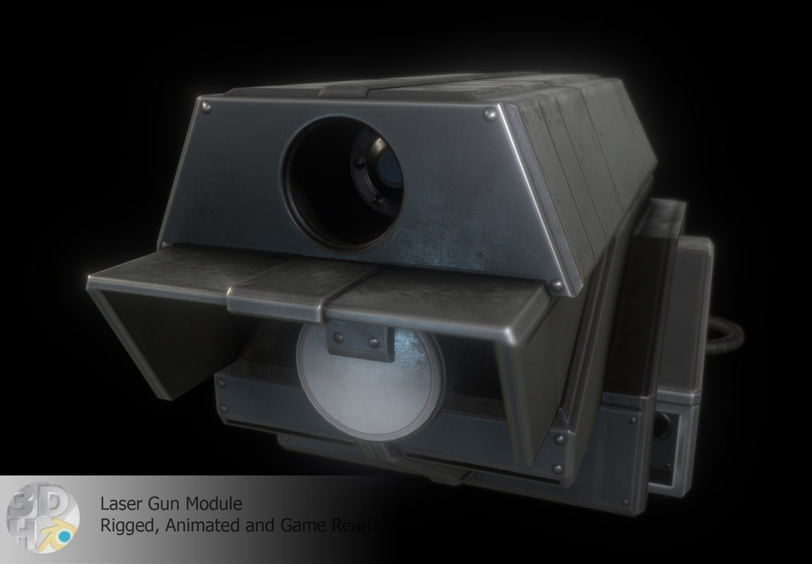 laser gun module 3d 3ds