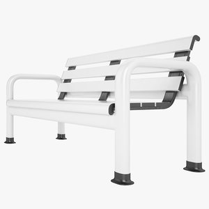 3d model courtside bench court