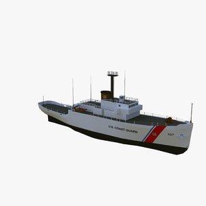 3d coast guard wmec-167 model