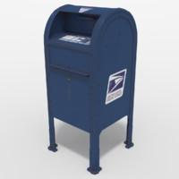 3d model letter dropbox