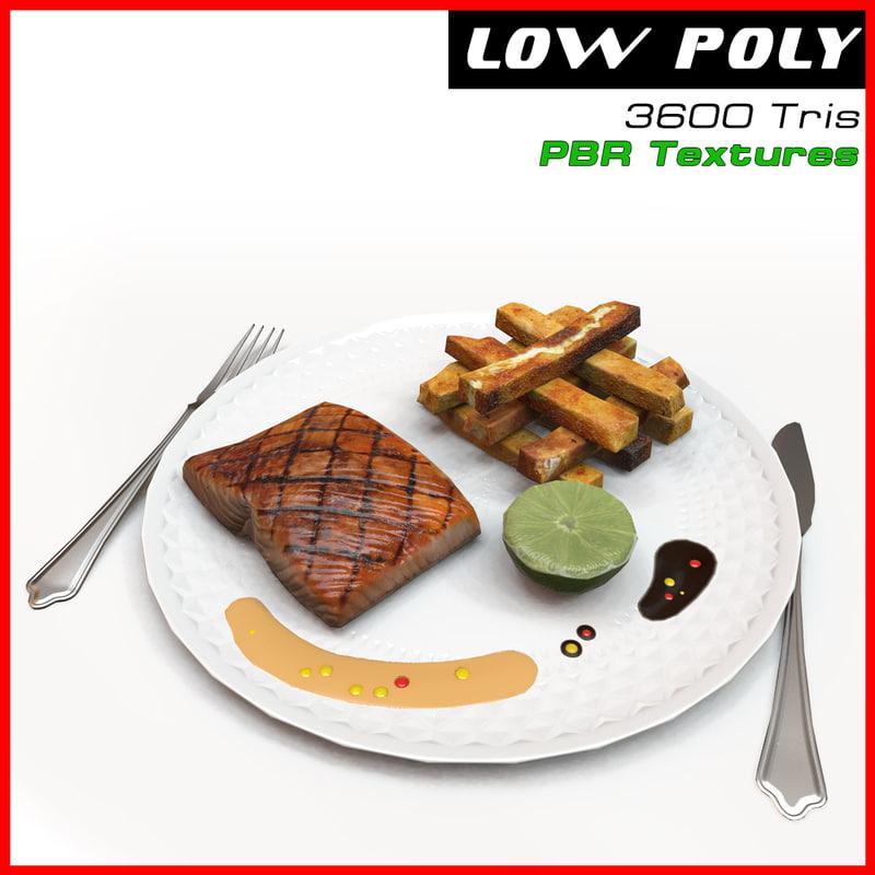 plate food 3d model