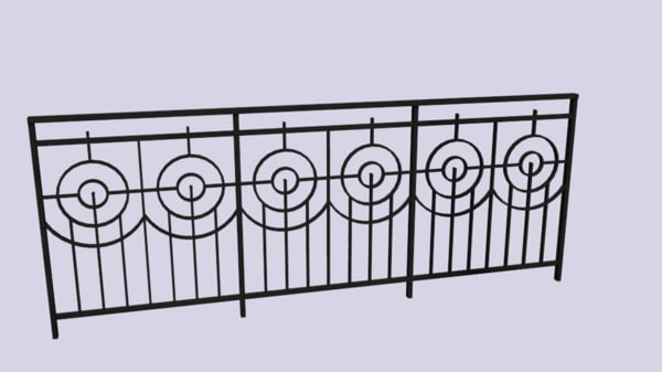 railing dwg free
