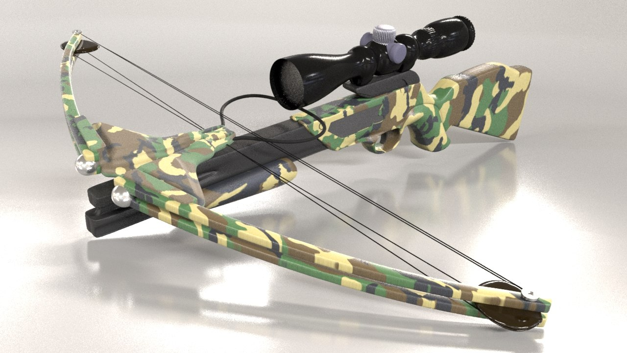 modern bow scope 3d model