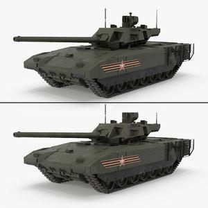 3d t-14 armata green 2 model