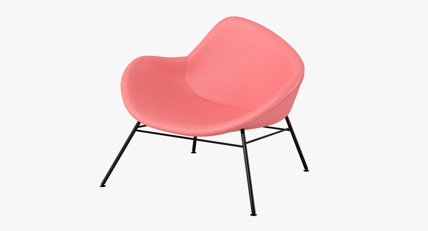 halle k2 chair 3d obj