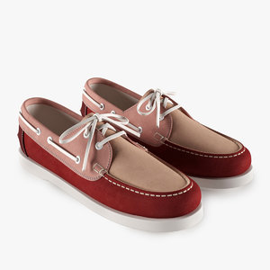 3d leather topsiders model