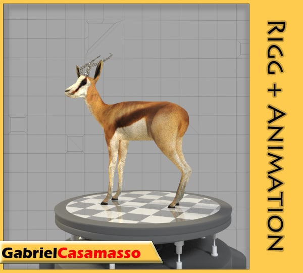 thomson-gazelle animation 3d blend