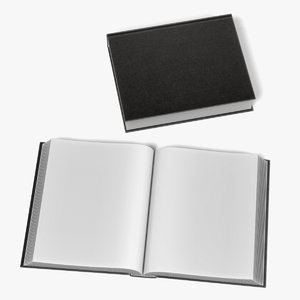 3d model opened book