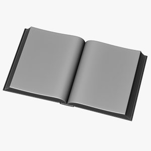 3d opened book model