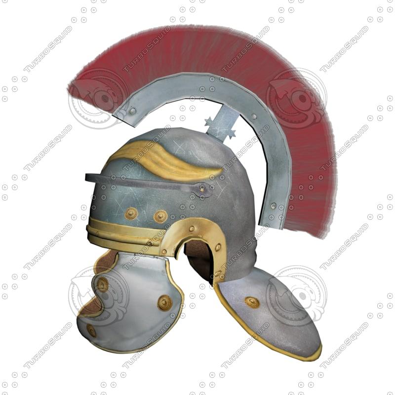 3d model romanian centurion helmet