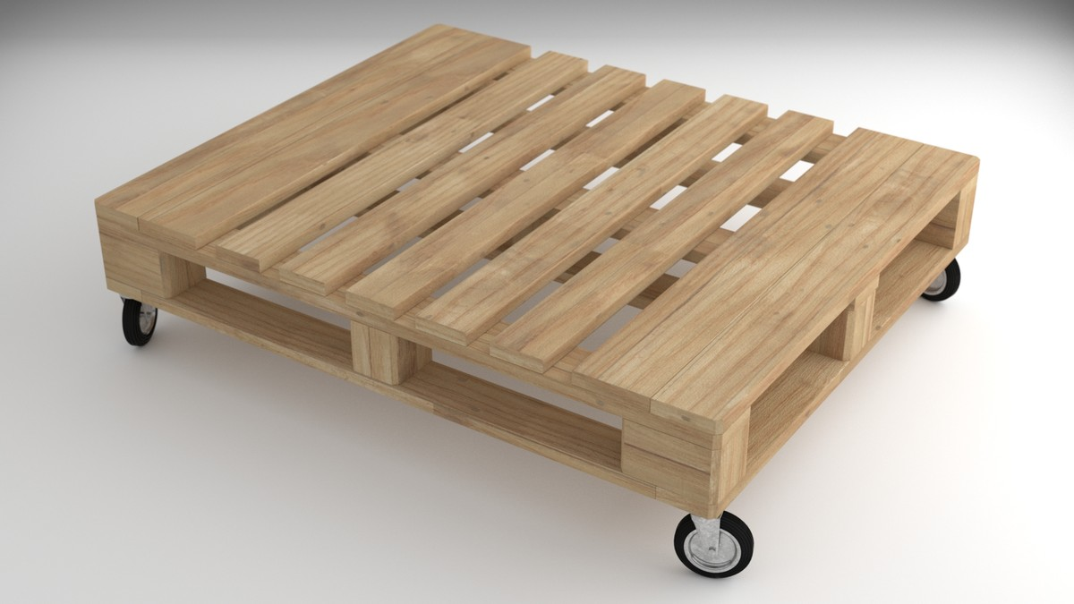 industrial table pallet 3d model