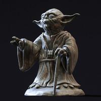 3d model of master yoda