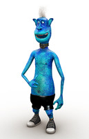 alien cartoon 3d ma