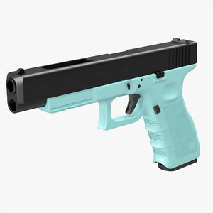 glock 34 blue 3d max