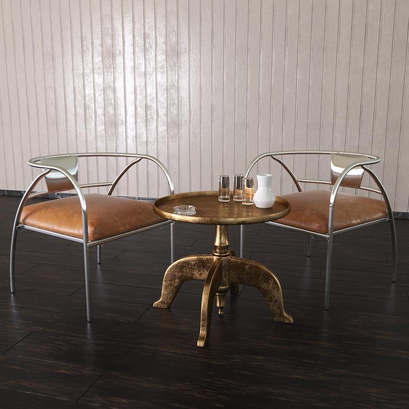 set 2 chair max