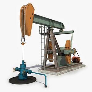 max oilpumpjack modeled