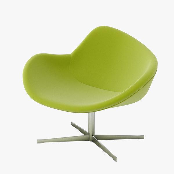 halle k2 swivel chair 3d model