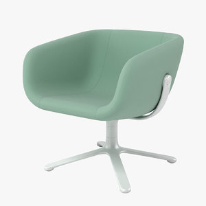 3d halle scoop chair model