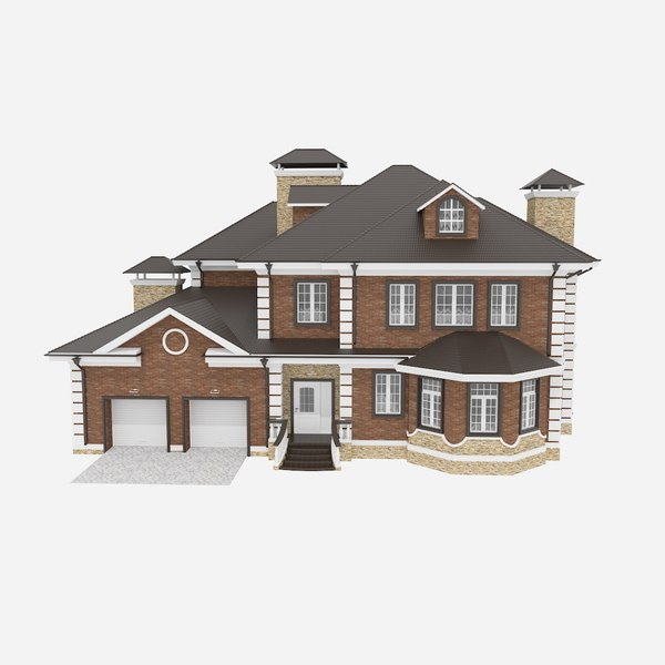 3d model house american