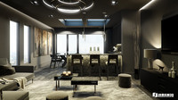 c4d black luxury apartment london