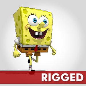 3d model of spongebob sponge bob