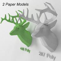 3d model paper deer