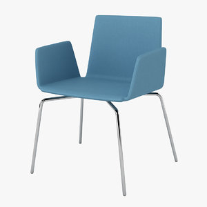 halle wing chair 3d model