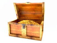 3d model of pirate chest