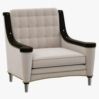 francesco molon armchair carving 3d model