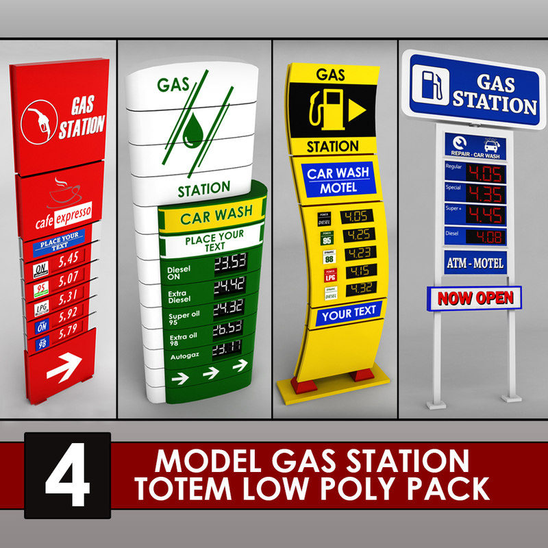 3d pack gas station price model