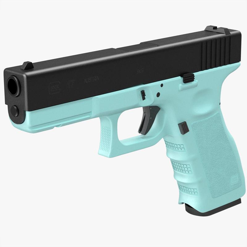 glock 17 blue c4d