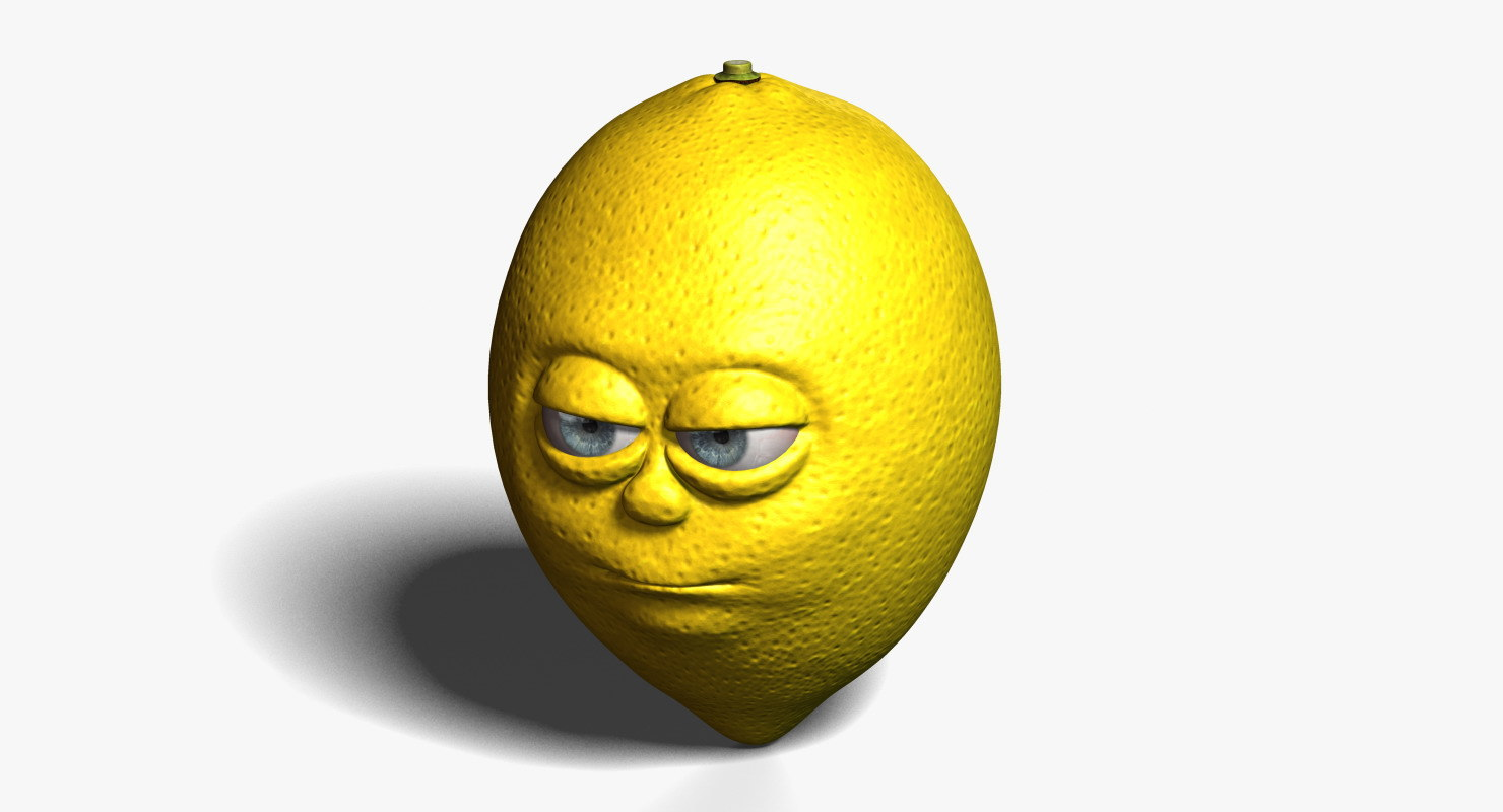 3d lemon cartoon model