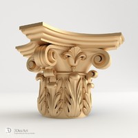 Capital 3D model of carved | Kl_009