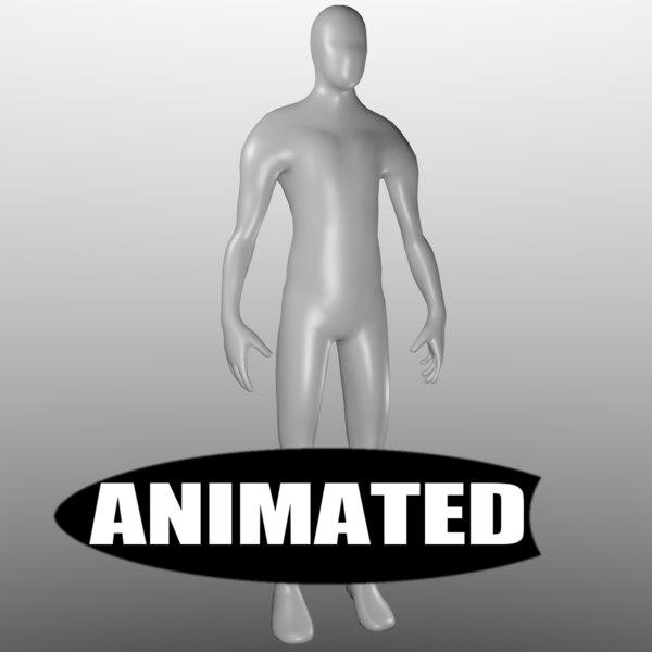free human base mesh animations 3d model