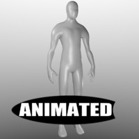 free human base mesh animations 3d model