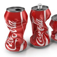 3d 3ds crushed soda cans set