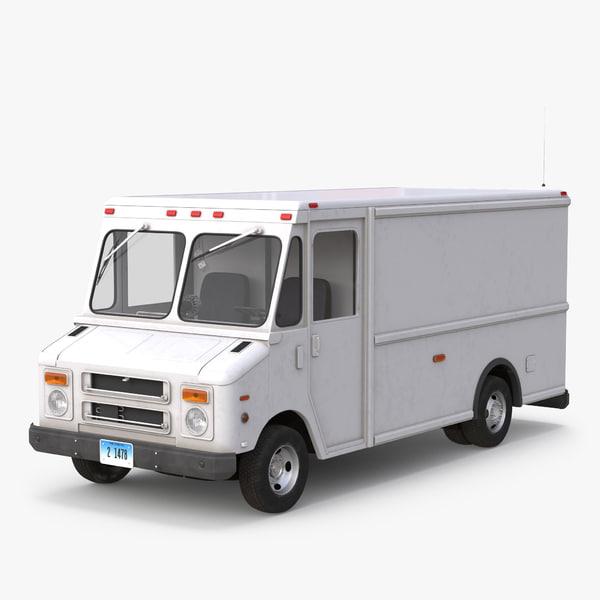 post office truck 3d 3ds