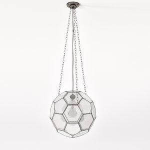 3d model roseuniacke large leaded lantern