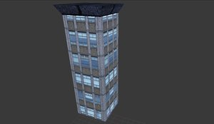 hotel apartments buildings 3d model