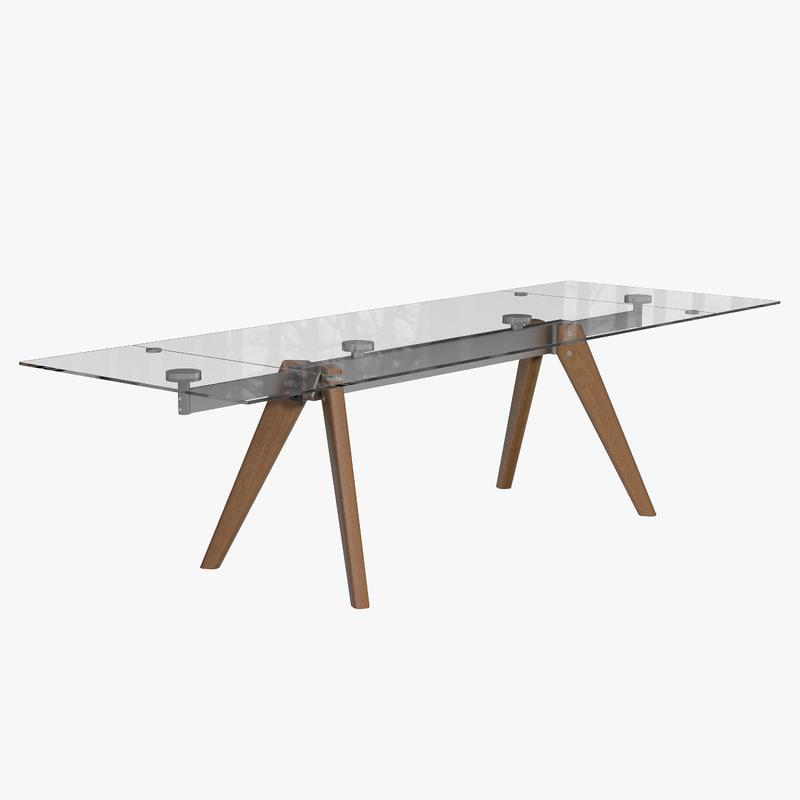 monza table boconcept 3d model