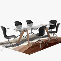 3d monza table adelaide chairs model