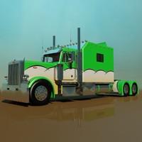 379 legacy semi truck 3d obj
