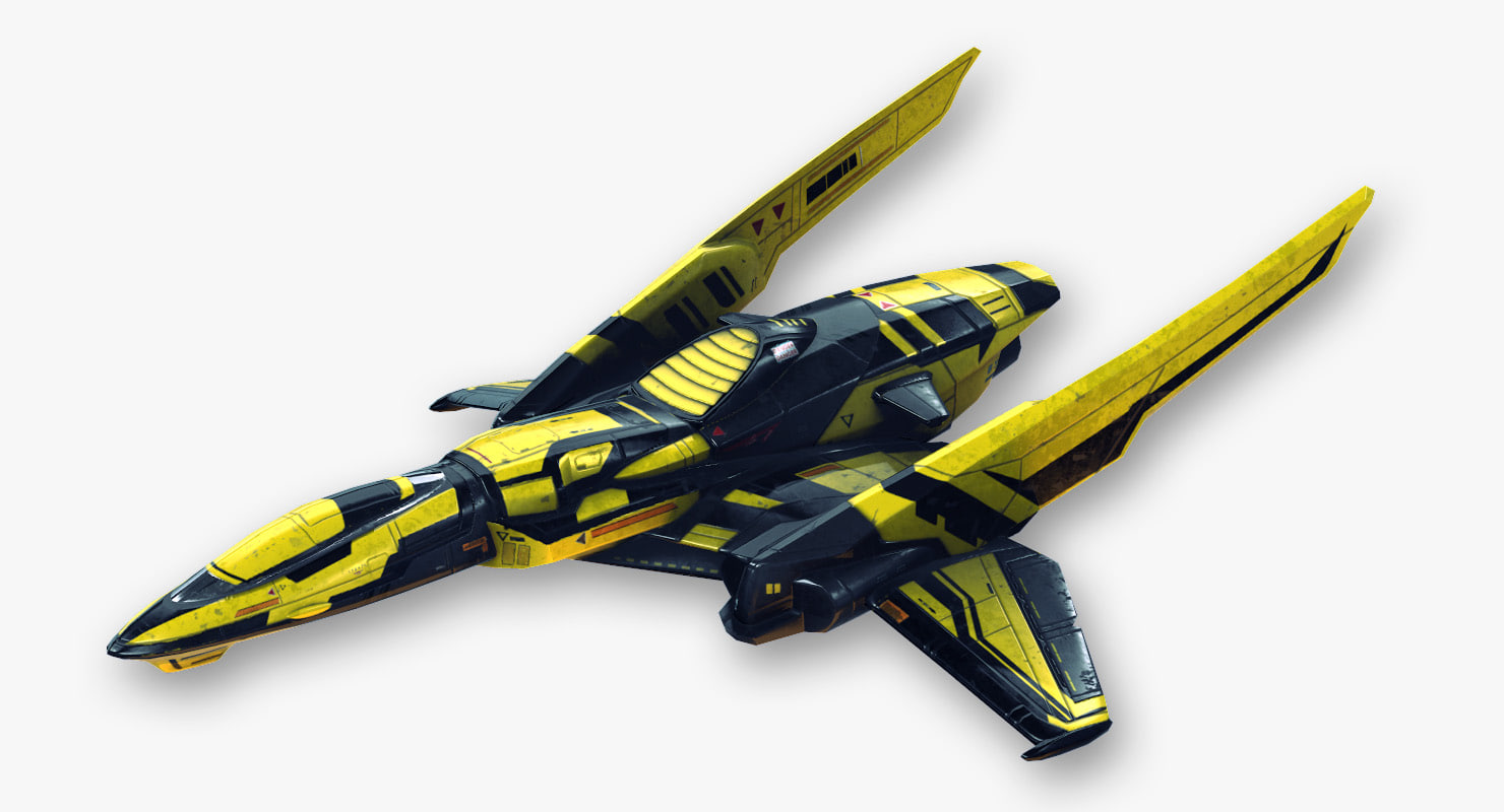 3d cosmic wasp fictional aircraft