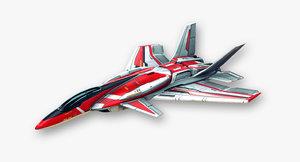 3d obj fighter jet fictional aircraft