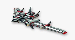 flying wing fictional aircraft 3d model