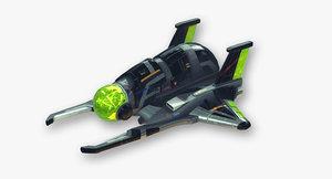 maintenance scout fictional aircraft 3d obj