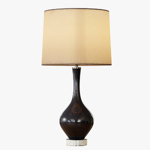 rejuvenation colored glass table lamp 3d 3ds