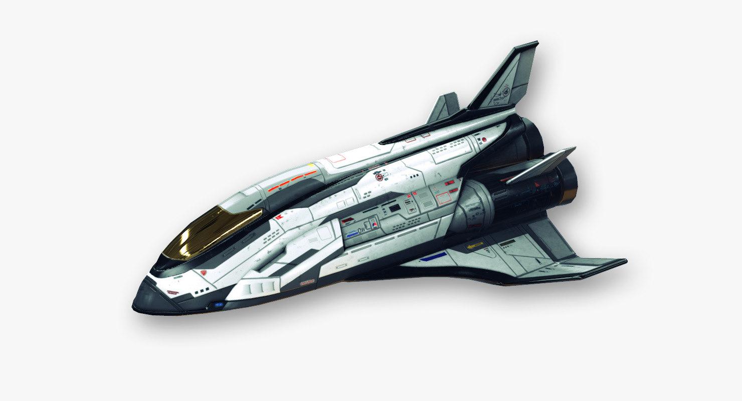 shuttle fictional aircraft ready 3d model