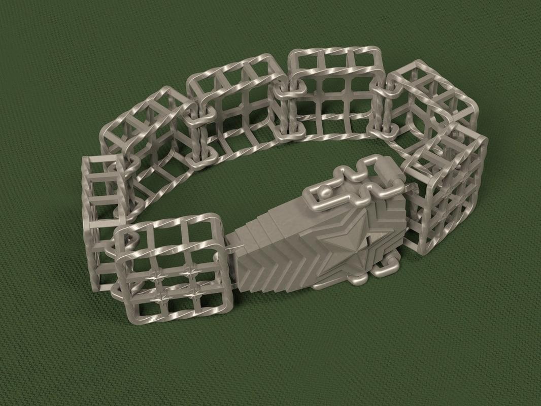 3d model brutal bracelet